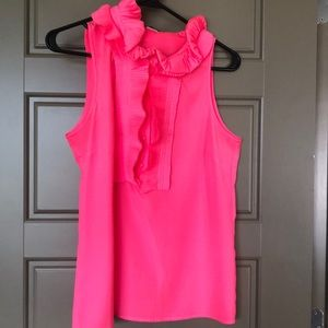 J crew hot pink blouse small. Never worn